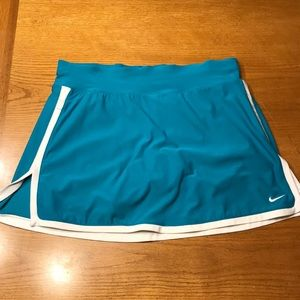 Nike S tennis skirt, teal